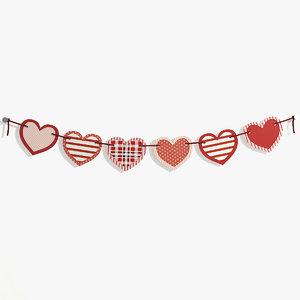 garland heart 3D model