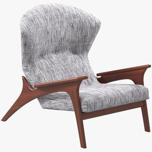 3D adrian pearsall lounge chair