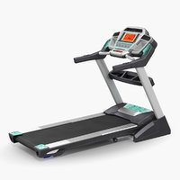 fitness treadmill rigged 3D model