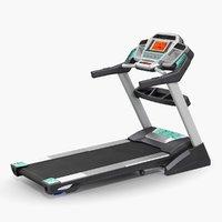 fitness treadmill rigged 3D model
