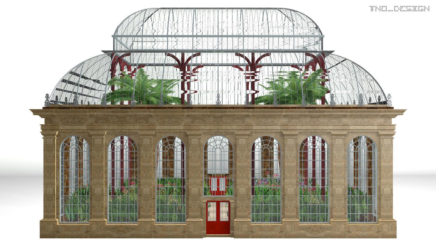 3D botanical garden orangery