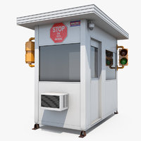 portable security booth cabin 3D model