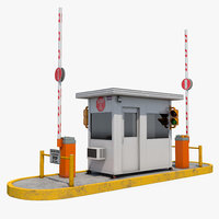 security guards booth 3D model