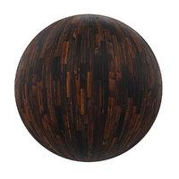 wooden tiles pbr volume 3D model
