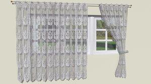 3D lace curtains