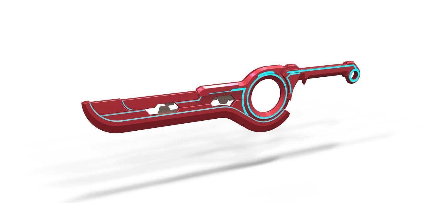 monado sword xenoblade chronicles 3D model