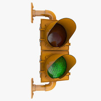 3D section traffic light