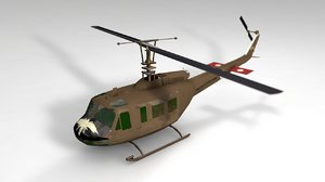 3D uh-1 army helicopter model
