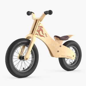 3D early rider bicycle model