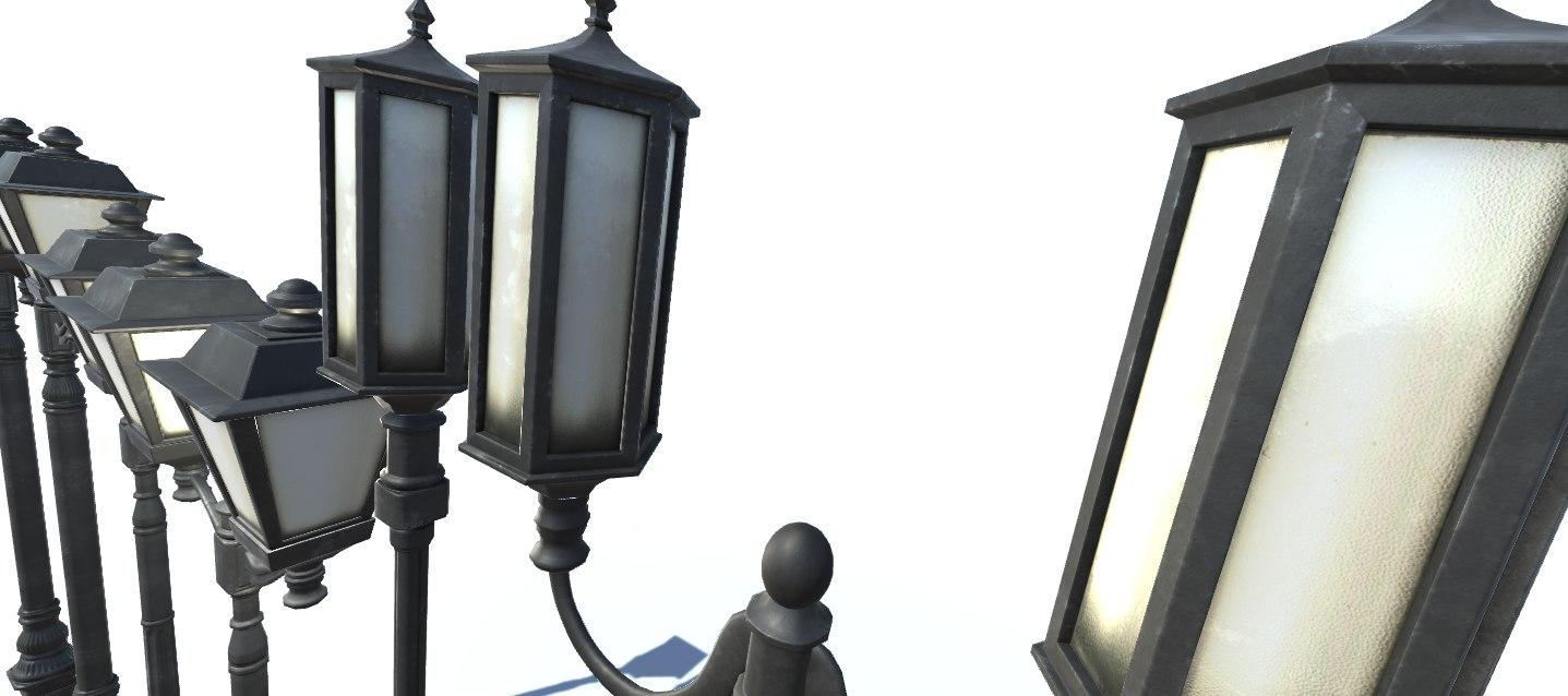 street lights 3D model
