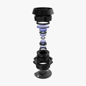 3D model camera lens components