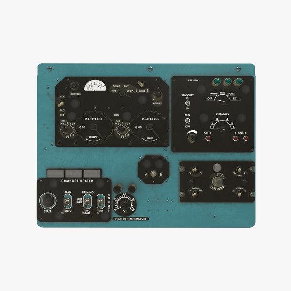 panels board mi-8mt mi-17mt 3D model