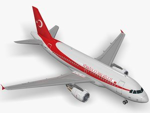 3D airbus acj319 turkish government