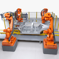 car body welding robotics 3D model