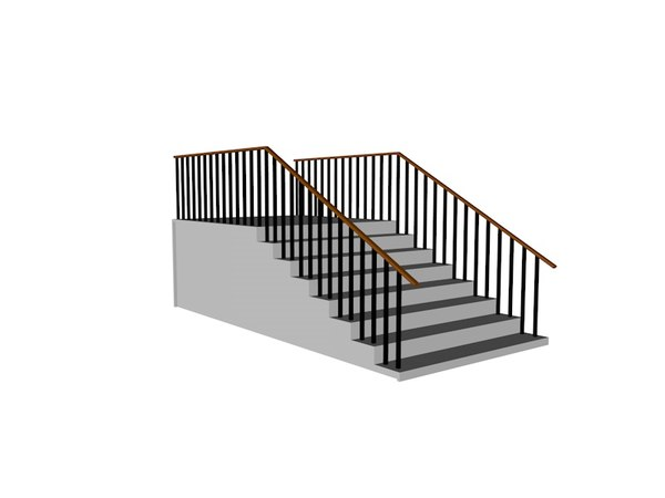 3D stairs leiter ladder model