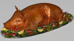 3D pig roast