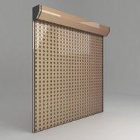 3D model store garage door