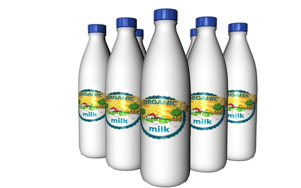3D milchflasche milk bottle model