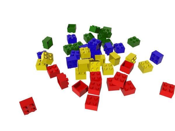 lego animation 3D model