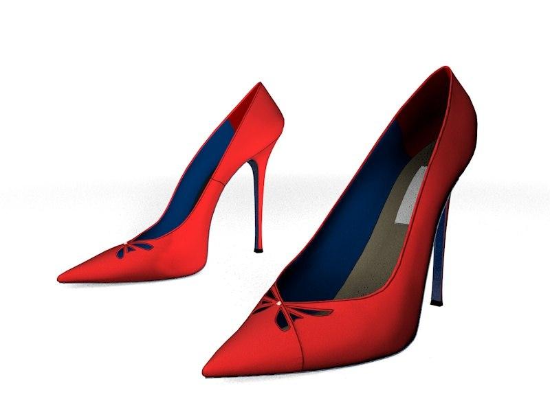 3D heel shoes