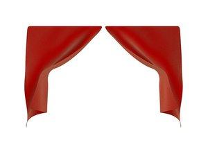 3D theater curtain teatro model