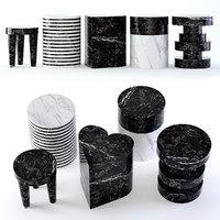 stool marble 3D model