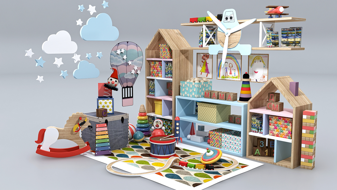 children child room model