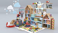 Children Room Furniture Set 3D model