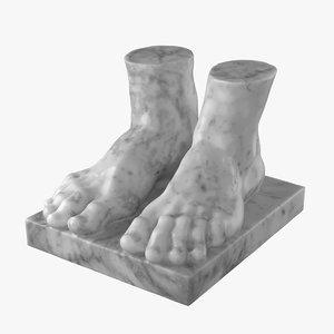 atlant feet 3D model