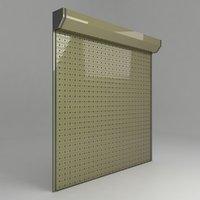 3D store garage door model