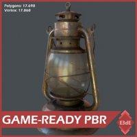 3D western gas lamp
