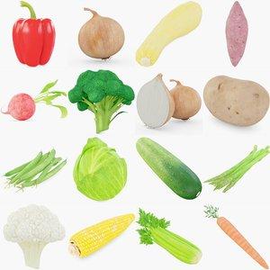 3D vegetables pepper model