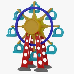 3d tolo toy ferris wheel model
