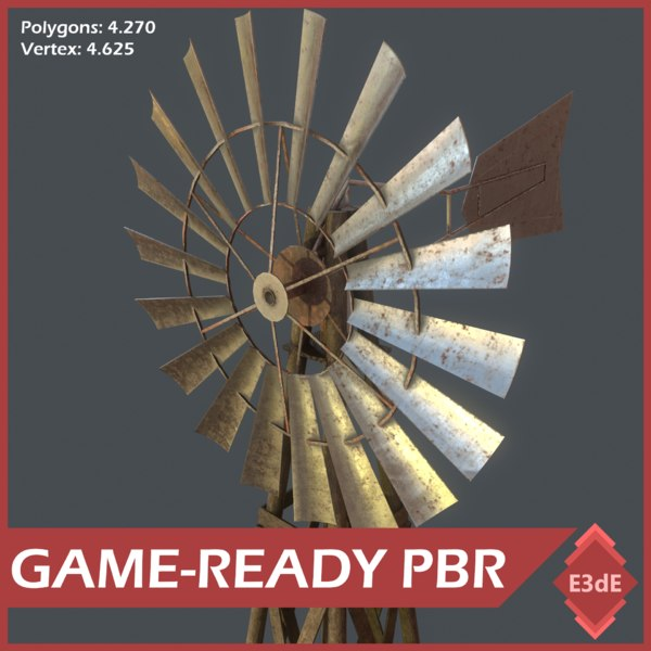 western windmill 3D model