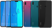 realistic huawei y9 colors 3D model