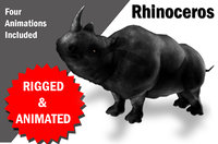 Rhino Rigged and Animated