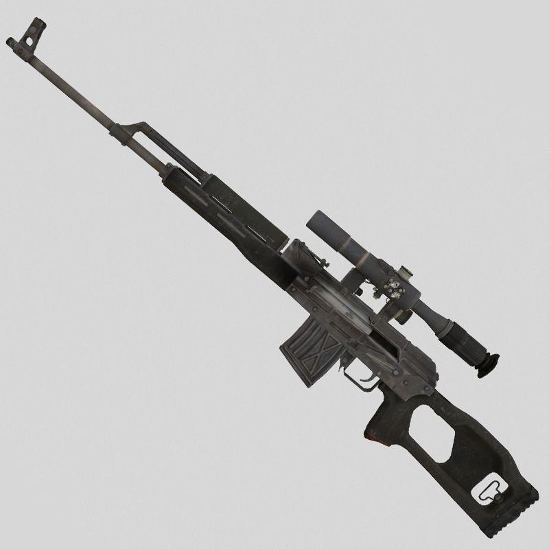 3D gun svd dragunov model