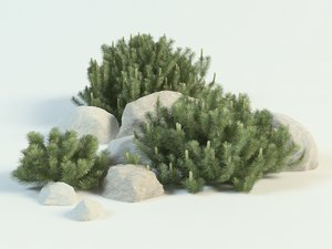 mountine pines 3D model