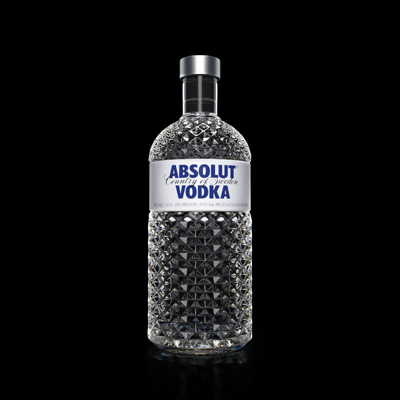 3D absolut vodka bottle model