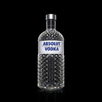 3D absolut vodka bottle model