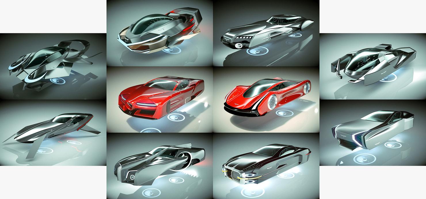 10 1 cool hover car model
