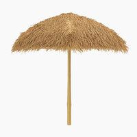 sunshade canopy beach sand 3D