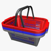 plastic shopping basket 3D model