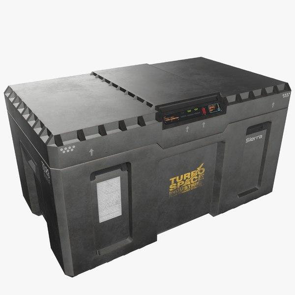 3D model loot crate - pbr