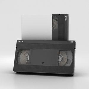3D vhs cassette model