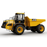 articulated truck 714 3D model