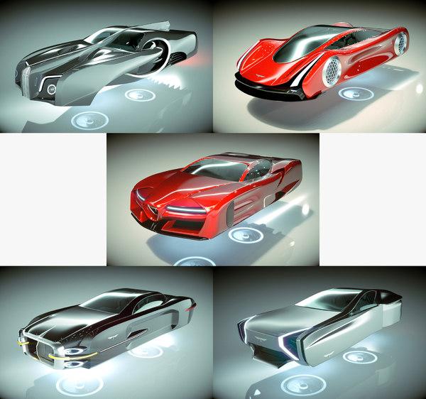 3D 5 1 cool hover car
