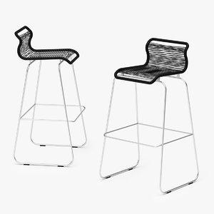 3D pantone bar stool