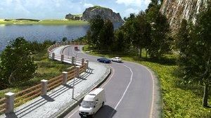 3D scene coast road blender