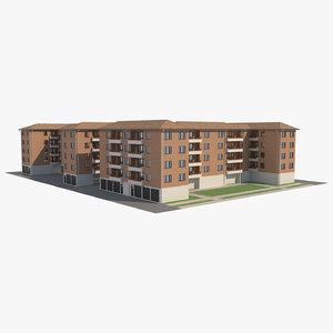apartment block 1 3D